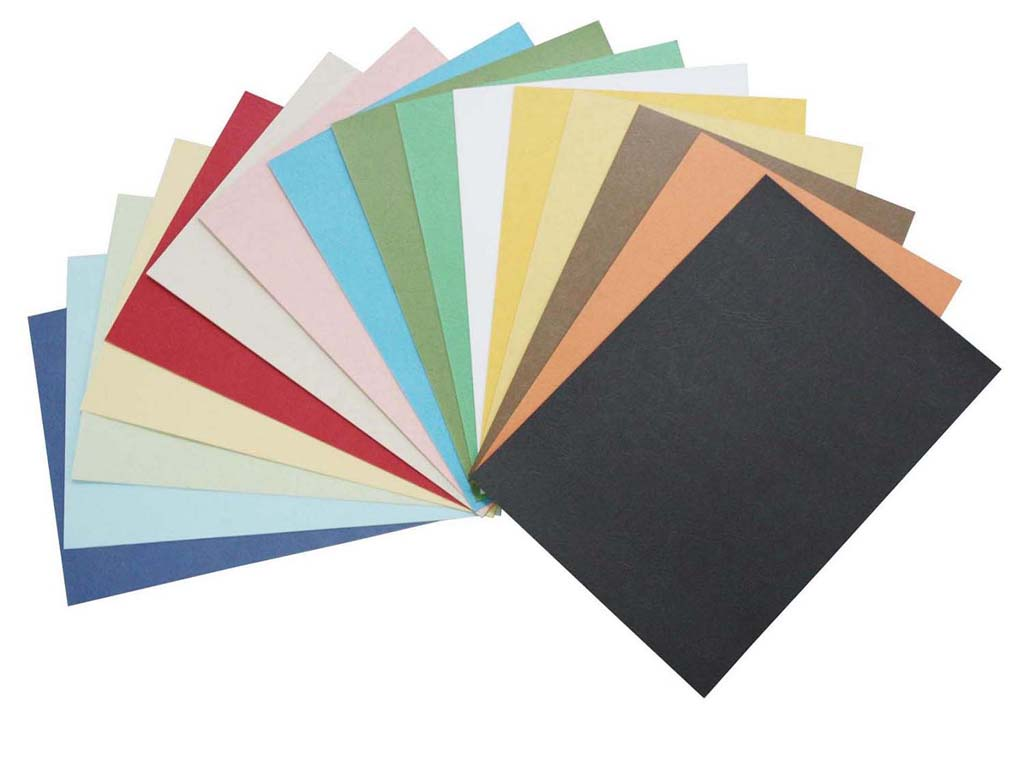 Leather Grain Color Paper Cover