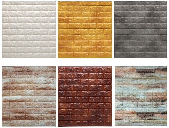 3D Brick PE Foam Non-toxic Stone Wallpaper For Home Decoration