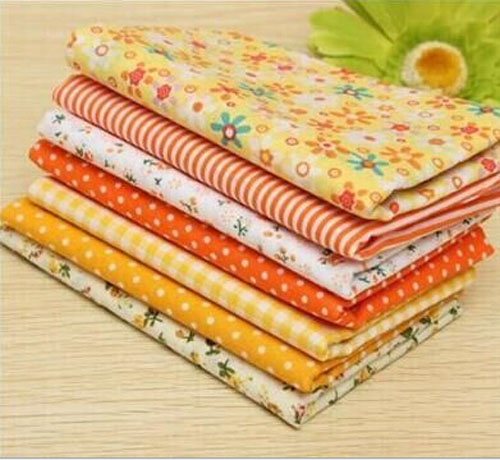 "DIY Craft Fabric 18""X21"" Fat Quarters Yellow"