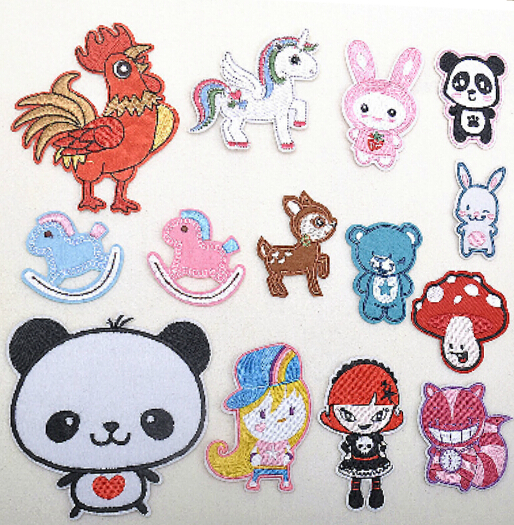 Embroidered Patches of Cartoon Designs
