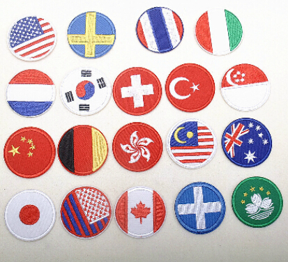 Embroidered Badges of National Emblem & Flag