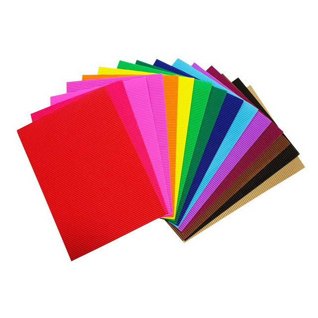 Craft color corrugated paper