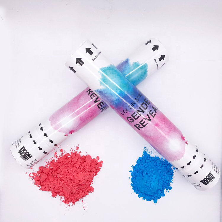 Party new idea exploding pink blue powder confetti cannon
