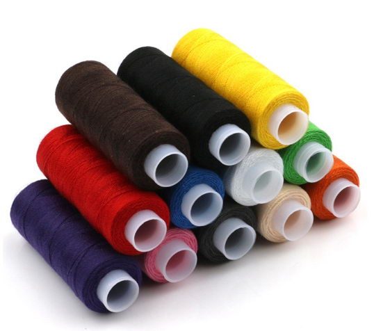 household mini colorful spool polyester sewing thread for clothes