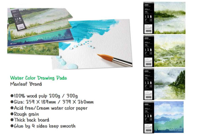 Oil-acrylic drawing pad