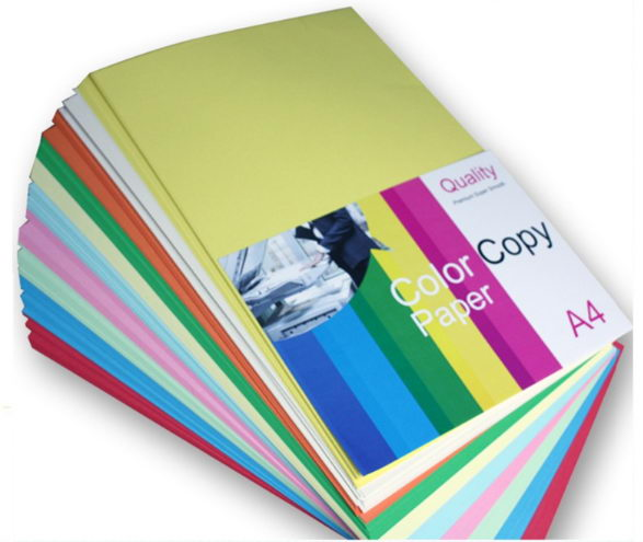 80gsm A4 size 10 different colors mixed colored paper