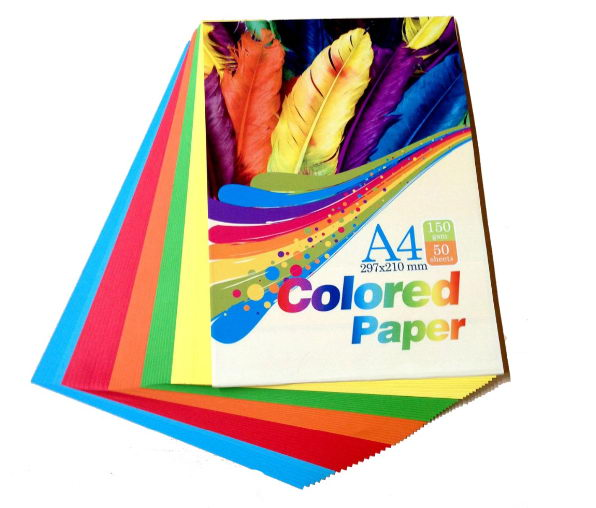 279*216mm multi colors mixed colored 80gsm paper